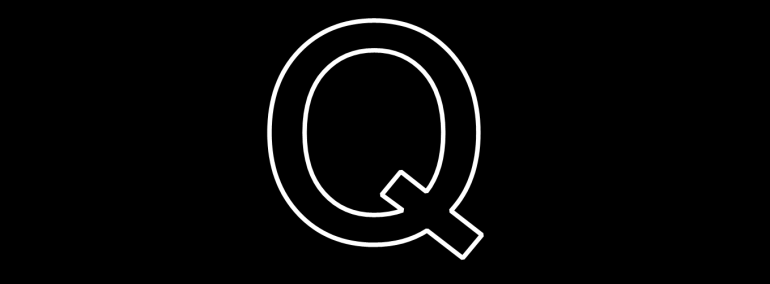 Q banner plain